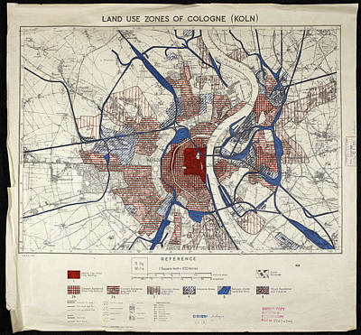Cartography Photograph - War Map Of Cologne by British Library