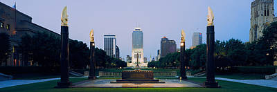 Indiana Photograph - War Memorial In A City, Cenotaph by Panoramic Images