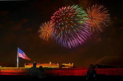 War Of 1812 - Fireworks Bursting In Air 4 Art Print