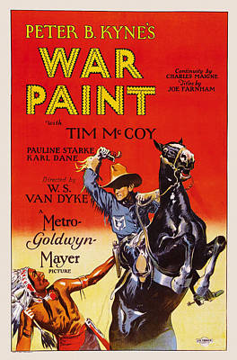 War Paint, Us Poster, Tim Mccoy Right Print by Everett