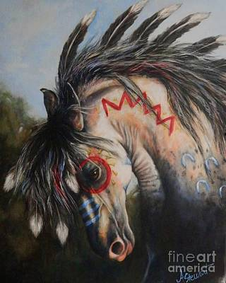 Painting - War Pony #3 Chieftan by Amanda Hukill