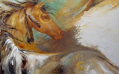 Painting - War Pony by Dina Dargo