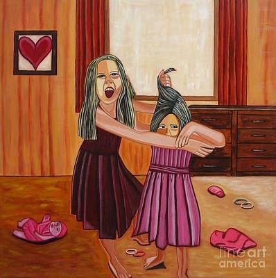 Humourous Painting - War by Sandra Marie Adams