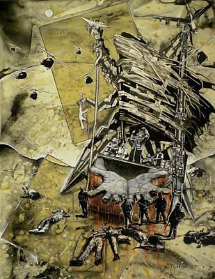 Realist Mixed Media - War by Sol Robbins