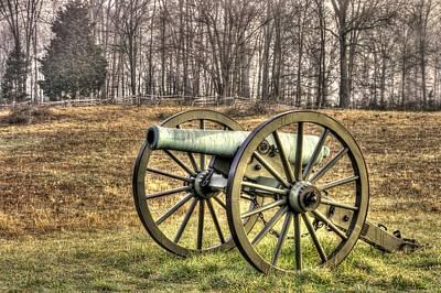 Art Print featuring the photograph War Thunder - 1st New York Light Artillery-b1 Battery D The Wheatfield Late Winter Gettysburg by Michael Mazaika