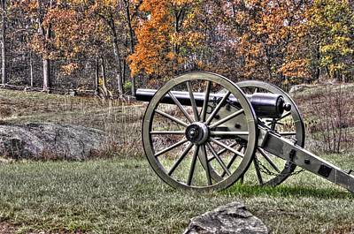 Art Print featuring the photograph War Thunder - 4th New York Independent Battery Crawford Avenue Gettysburg by Michael Mazaika