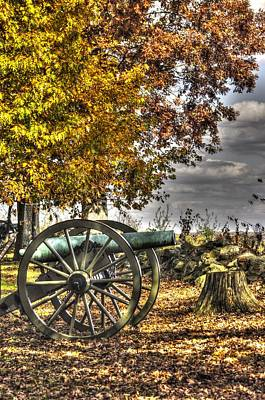 Art Print featuring the photograph War Thunder - Aonv The Purcell Artillery Mcgraw's Battery-a1 West Confederate Ave Gettysburg by Michael Mazaika