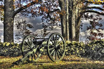 Art Print featuring the photograph War Thunder - Lane's Battalion Ross's Battery-a1 West Confederate Ave Gettysburg by Michael Mazaika