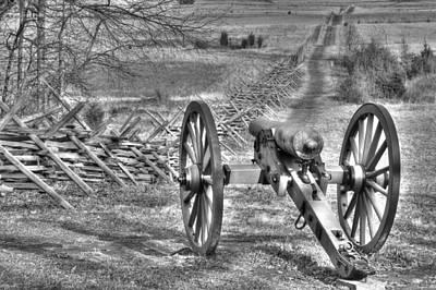 Art Print featuring the photograph War Thunder - Poague's Battalion Brooke's Va Battery West Confederate Avenue Gettysburg by Michael Mazaika