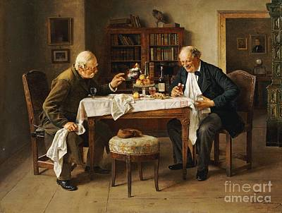 Isidor Kaufmann Painting - War Time Reminiscences by Celestial Images