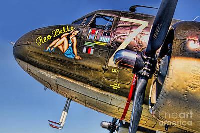 Photograph - Warbird  C-47 Tico Belle by Olga Hamilton