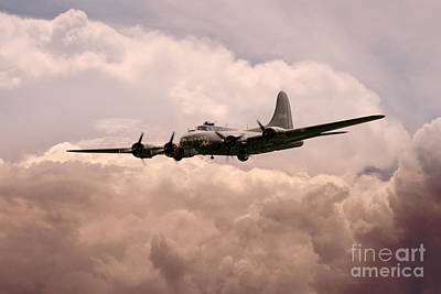 Warbirds - B17 Flying Fortress Art Print by J Biggadike