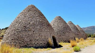 Photograph - Ward Charcoal Ovens by Benjamin Yeager