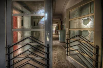 Glass Wall Digital Art - Ward Doors by Nathan Wright