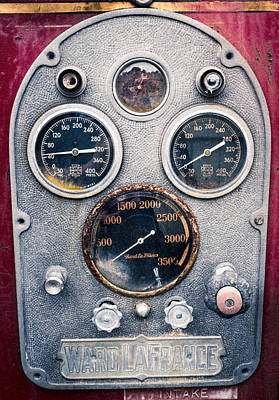 Photograph - Ward Lafrance Pump Panel by Chris Bordeleau