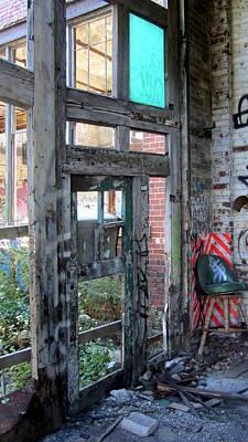 Photograph - Warehouse Broken Doors And Windows by Anita Burgermeister