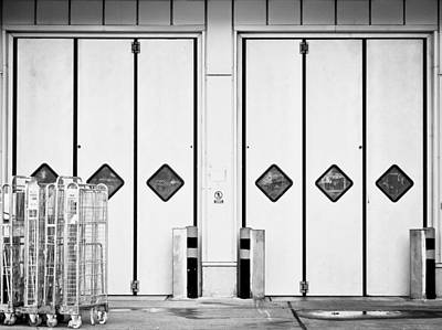 Warehouse Doors Art Print by Tom Gowanlock