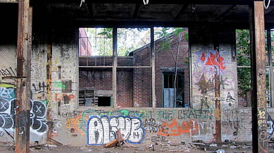 Photograph - Warehouse Graffiti Alive 1 by Anita Burgermeister