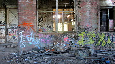 Photograph - Warehouse View Broken Windows by Anita Burgermeister
