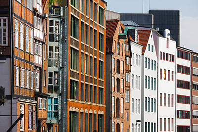 In A Row Photograph - Warehouses In A Row, Nicolai Fleet by Panoramic Images