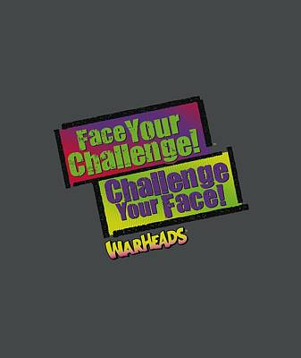 Candy Digital Art - Warheads - Face Your Challenge by Brand A