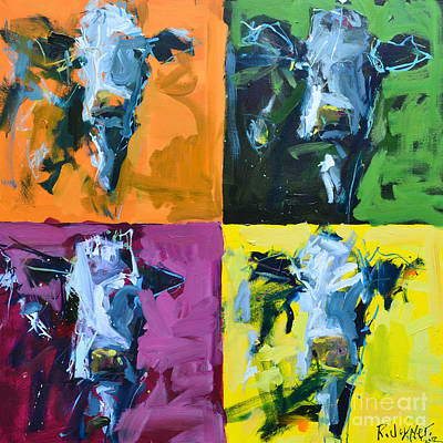 Warhol Cows Art Print by Robert Joyner