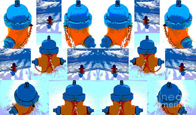 Photograph - Warhol Firehydrants by Nina Silver
