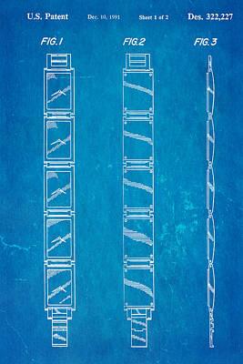 Warhol Five Face Watch Patent Art 1991 Blueprint Art Print by Ian Monk