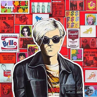 Art Print featuring the mixed media Warhol by Joseph Sonday
