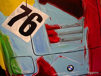 Bmw M1 Painting - Warhol M1 by Indaguis Montoto
