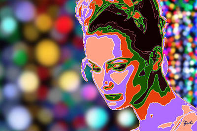 Art Print featuring the photograph Warhol Style Portrait by Ze  Di