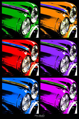 Purple Car Photograph - Warhol's Ride by Mary Machare