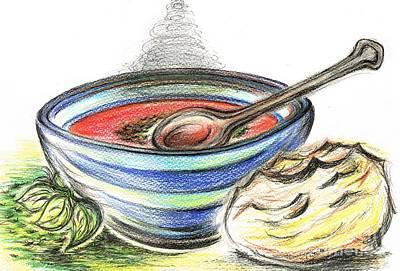 Warm Bowl Of Tomato Soup Print by Teresa White