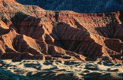 Warm  Colored Mountain Formations Original by Kim Lessel