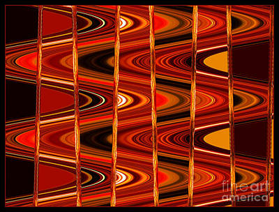 Photograph - Warm Colors Lines And Swirls Abstract by Carol Groenen