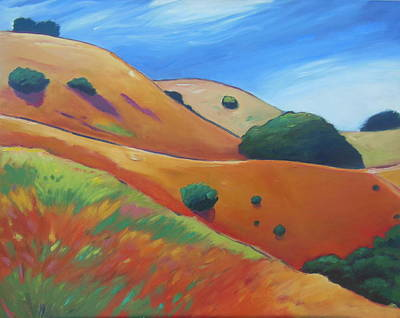 Warm Colors Painting - Warm Day by Gary Coleman