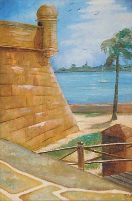 Painting - Warm Days In St. Augustine by Nicole Angell
