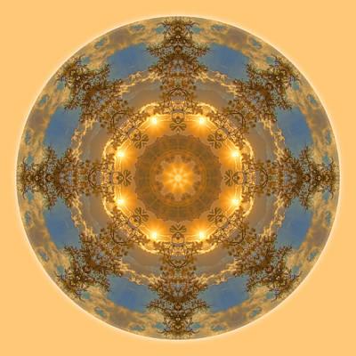 Photograph - Warm Glow Of The Sun Mandala by Beth Sawickie