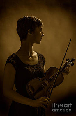 Violin Photograph - Warm Memories by M K  Miller