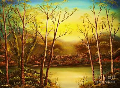Painting - Warm Misty Day -original Sold-buy Giclee Print Nr 37 Of Limited Edition Of 40 Prints   by Eddie Michael Beck