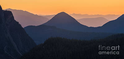Photograph - Warm Mountain Layers by Mike Reid
