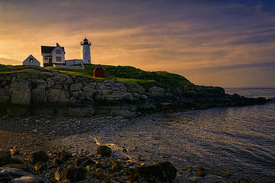 Warm Nubble Dawn Art Print by Joan Carroll