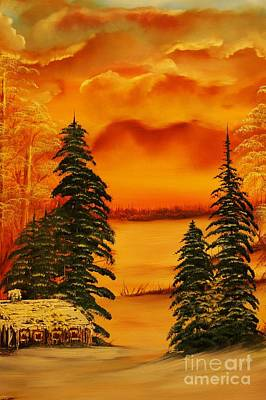 Warm Snow-original Sold- Buy Giclee Print Nr 34 Of Limited Edition Of 40 Prints  Art Print