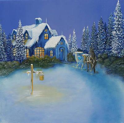 Painting - Warm Snow by David Kacey