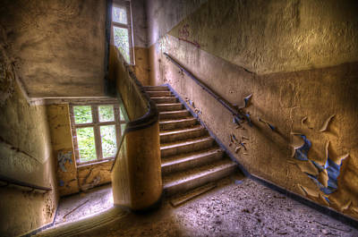 Digital Art - Warm Stairs by Nathan Wright