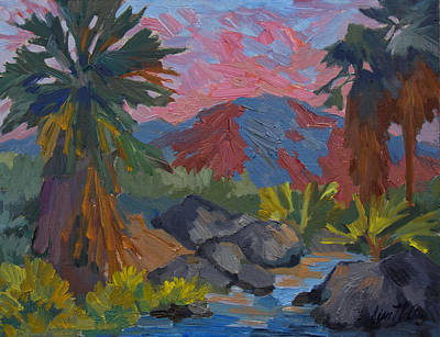 Painting - Warm Summer Afternon At Indian Canyon by Diane McClary
