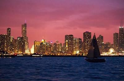 Warm Summer Night Chicago Style Art Print