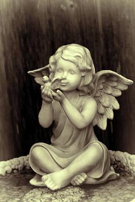 Warm Toned Angel Art Print