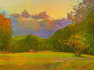 Painting - Warm View Of South Shore - Horizontal by Lyn Voytershark