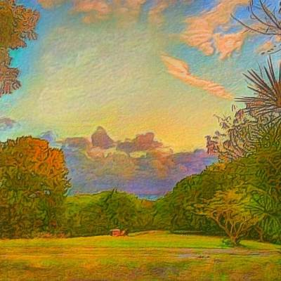 Warm View Of South Shore  - Square Art Print by Lyn Voytershark
